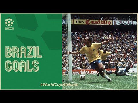 All of Brazil's 1970 World Cup Goals | Pele Jairzinho & more!