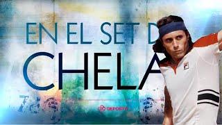Guillermo Vilas, Su Carrera Y Títulos, Mano A Mano Con Juan Ignacio Chela - En El Set De Chela