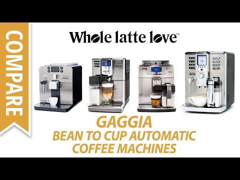 Compare: Automatic Bean to Cup Coffee Machines from Gaggia