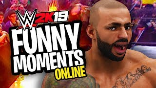 HILARIOUS EXTREME RULES ONLINE MATCH!!   WWE 2K19 Funny Moments Online #1