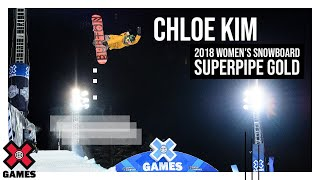 Chloe Kim Wins Women's Snowboard SuperPipe Gold | X Games Aspen 2018