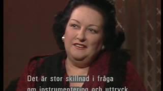 Montserrat Caballe about Freddie Mercury and Opera. Jacobs Stege, Sweden. 03.12.1988