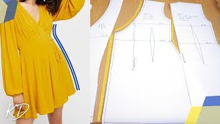 HOW TO: DRAFT WRAP DRESS PATTERNS | KIM DAVE