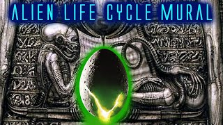 HR Giger Unused Alien Life Cycle Mural Explained