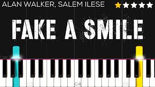 Alan Walker, salem ilese - Fake A Smile | EASY Piano Tutorial