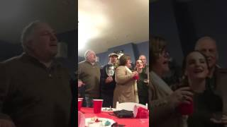 McLaughlin Family Christmas Party 2016-White Christmas featuring Archie Cutout