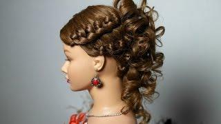 Смотреть онлайн Свадебная прическа: плетение на средние волосы