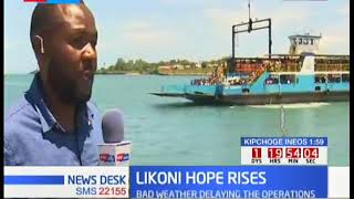 Attempts by the rescue team to pull out the car at Likoni Ferry Channel underway