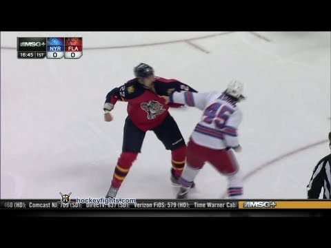 George Parros vs. Arron Asham