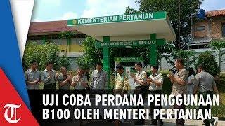 Uji Coba Perdana Penggunaan B100 oleh Menteri Pertanian