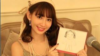 小嶋陽菜がラジオ番組中に描いた似顔絵。いったい誰の絵?音声はありません