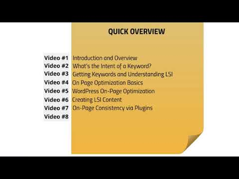 WP SEO Part 1 Introduction And Overview