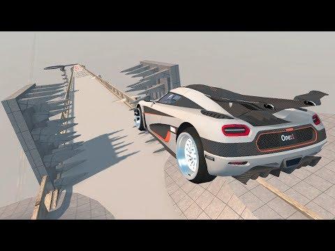 BeamNG Drive High Speed Open Bridge Jumps #5