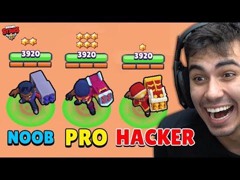 NOOB vs PRO vs HACKER no Brawl Stars!!