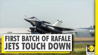 First Batch Of Rafale Fighter Jets Land At Ambala Air Station | India News
