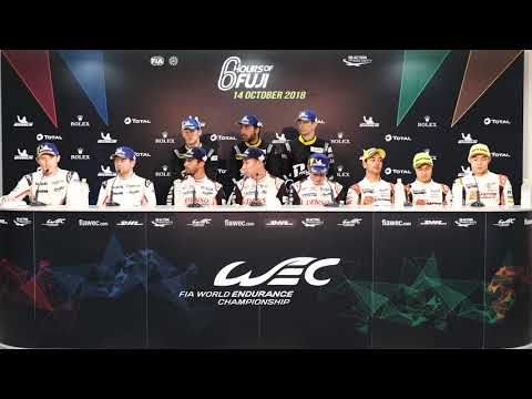 #WEC - 2018 6H of Fuji - Post-Race Drivers Press Conference