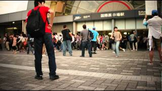 C80コミックマーケット80りんかい線国際展示場駅始発組到着の瞬間