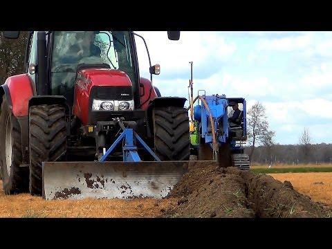 Drainage aanleggen met Inter Drain 1824 T en Case IH Maxxum 125