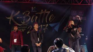 """ TOP 5 "" ( OG-ANIC - PETER SMOKE - 3F - WERS1 - CRAZY J ) @K Battle 2017 (Korat)"
