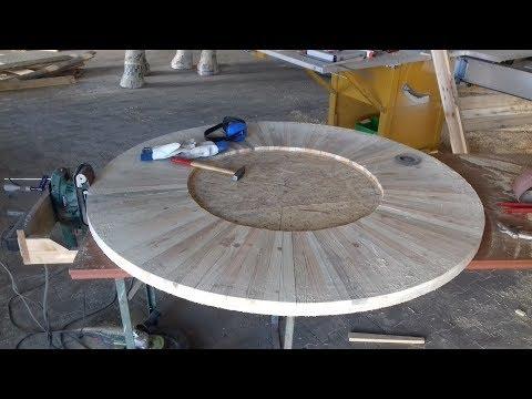 Grilltisch 2.0 BBQ Table from reclaimed Pallets runder Grilltisch für Weber Kugelgrill