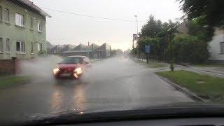 Močan dež s točo v Ljutomeru