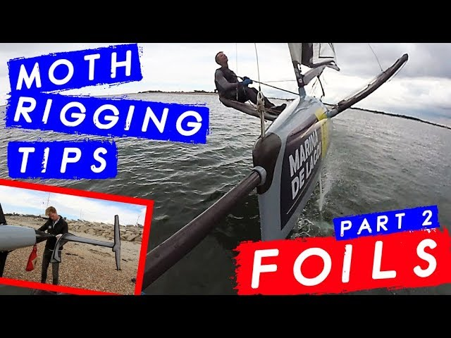 MOTH RIGGING Top Tips - Part 2 FOILS - Attaching and protecting your foils With Champion Sailor
