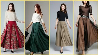 Beautiful And Outstanding Bohemian  Skirts | Floral/chiffon/Elastic Waist Skirts Designs