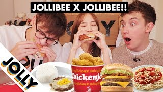 Jollibie Tries the Whole Jollibee Menu for the First Time!!!