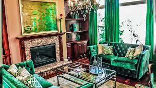 Emerald Green Living Room Idea