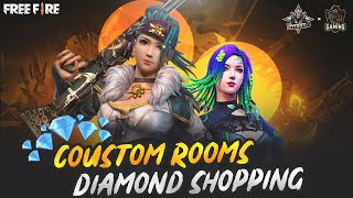 Free Fire Live Diamond Shopping + Custom Room - Total Gaming x Dynamo Gaming Collab