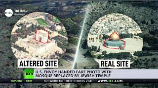 Temple Mount photo with Jewish temple replacing mosque handed to US envoy, sparking criticism