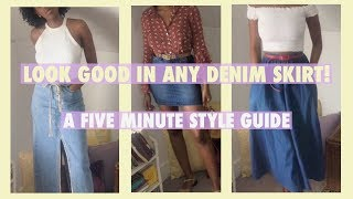 9 WAYS TO STYLE A DENIM SKIRT| SPRING/SUMMER TRENDS 2020