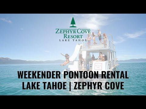 Weekender Pontoon Rental at Lake Tahoe's Zephyr Cove Marina