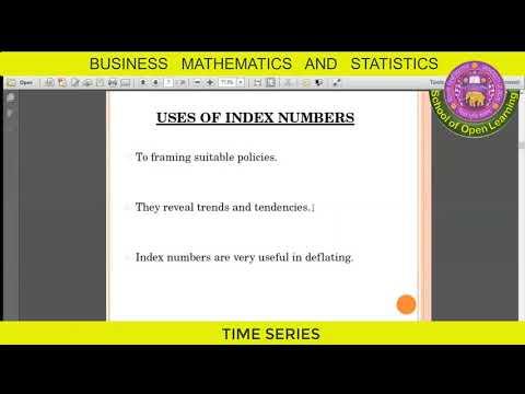 BUSINESS MATHEMATICS AND STATISTICS - TIME SERIES By - SUMITA JAIN