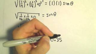 Given the Cross Product , Find Angle Between Vectors. Here we are given the cross product of two unit vectors and we proceed to find the angle between two ve...