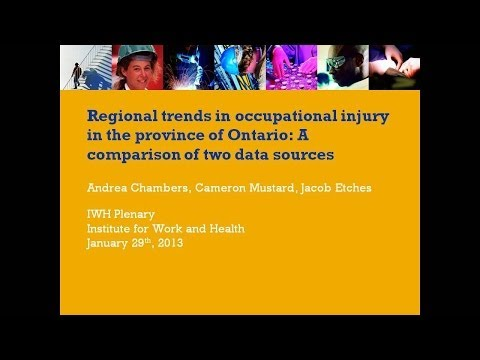 Regional Trends in Work-related Injury and Illness, January 29, 2013.