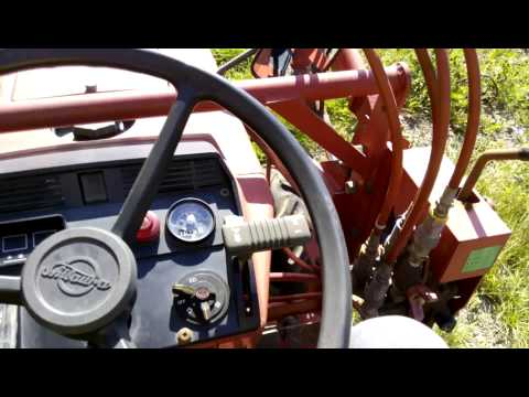 японский трактор - japanese tractor shibaura P15F, loader test drive