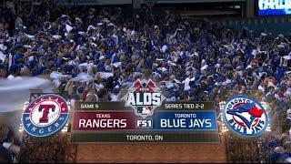 MLB ALDS Game 5 10/14/2015 ● Texas Rangers vs Toronto Blue Jays