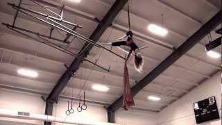 12 Year Old Girl Performs Silks For Her School 40 In The Air!