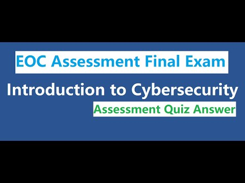 CISCO Introduction to Cybersecurity   EOC Assessment Final Exam ...