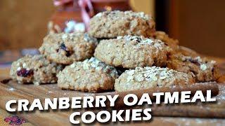 Овсяное печенье с клюквой  FE  Crunchy oatmeal cranberry cookies