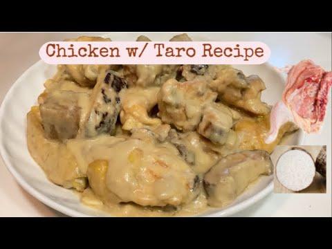 Chicken with Taro Recipe | Cooking Maid Hongkong