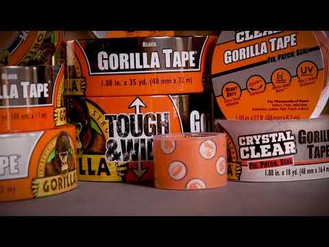Gorilla Lerretstape sølv 32 m - film på YouTube