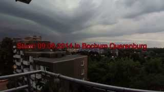 preview picture of video 'Extremes Unwetter Sturm in Bochum 09.06.2014'