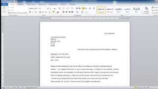 HOW TO WRITE A COVER LETTER FOR JOB