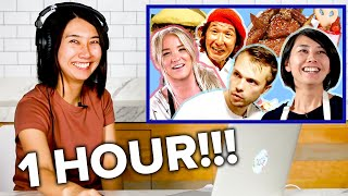 Rie Reacts To Her Old Videos For An Hour Straight • Tasty