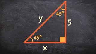 How To Use Special Right Triangles To Find The Missing Side Lengths