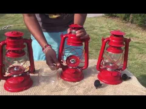 ¿Cómo prender un quinqué ó lámpara de petróleo?