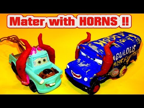 Mater With Horns From Miss Fritter Cars 3 School Bus Of Doom
