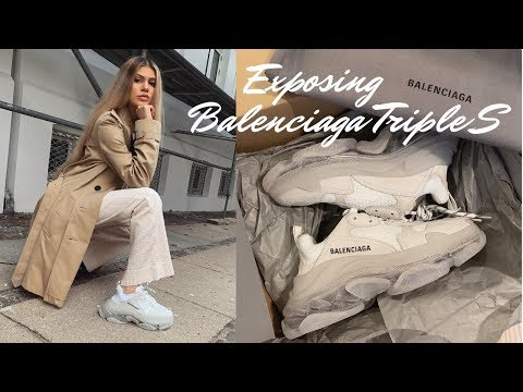 EXPOSING THE BALENCIAGA TRIPLE S SNEAKERS | REVIEW & UNBOXING!